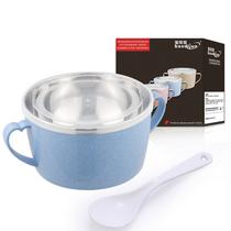 宝蒂骏保鲜盒不锈钢饭盒泡面碗温琪尔沙拉碗-单个装颜色随机