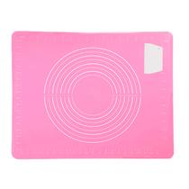 佳佰硅胶垫揉面垫食品案板家用和面板烘焙工具不粘擀面垫切面刀颜色随机