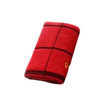 洁丽雅纯棉强吸水格子面巾单条装6300