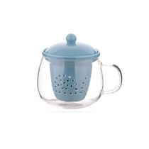 赛凡茶水分离陶瓷过滤玻璃水杯SF011